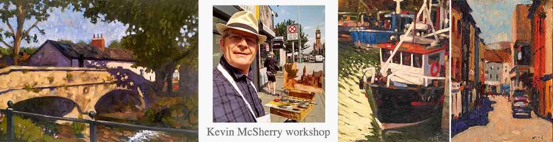 Kevin Mc Sherry art workshop at Dublin Plein Air painting festival