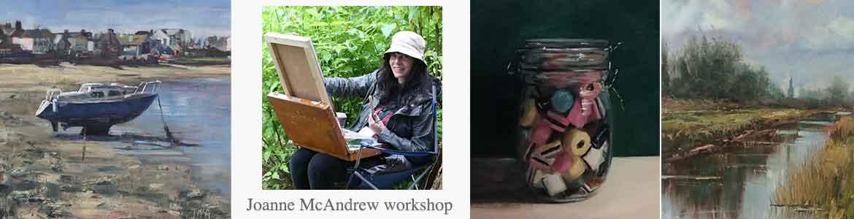 Joanne Mc Andrew workshop at Dublin Plein Air